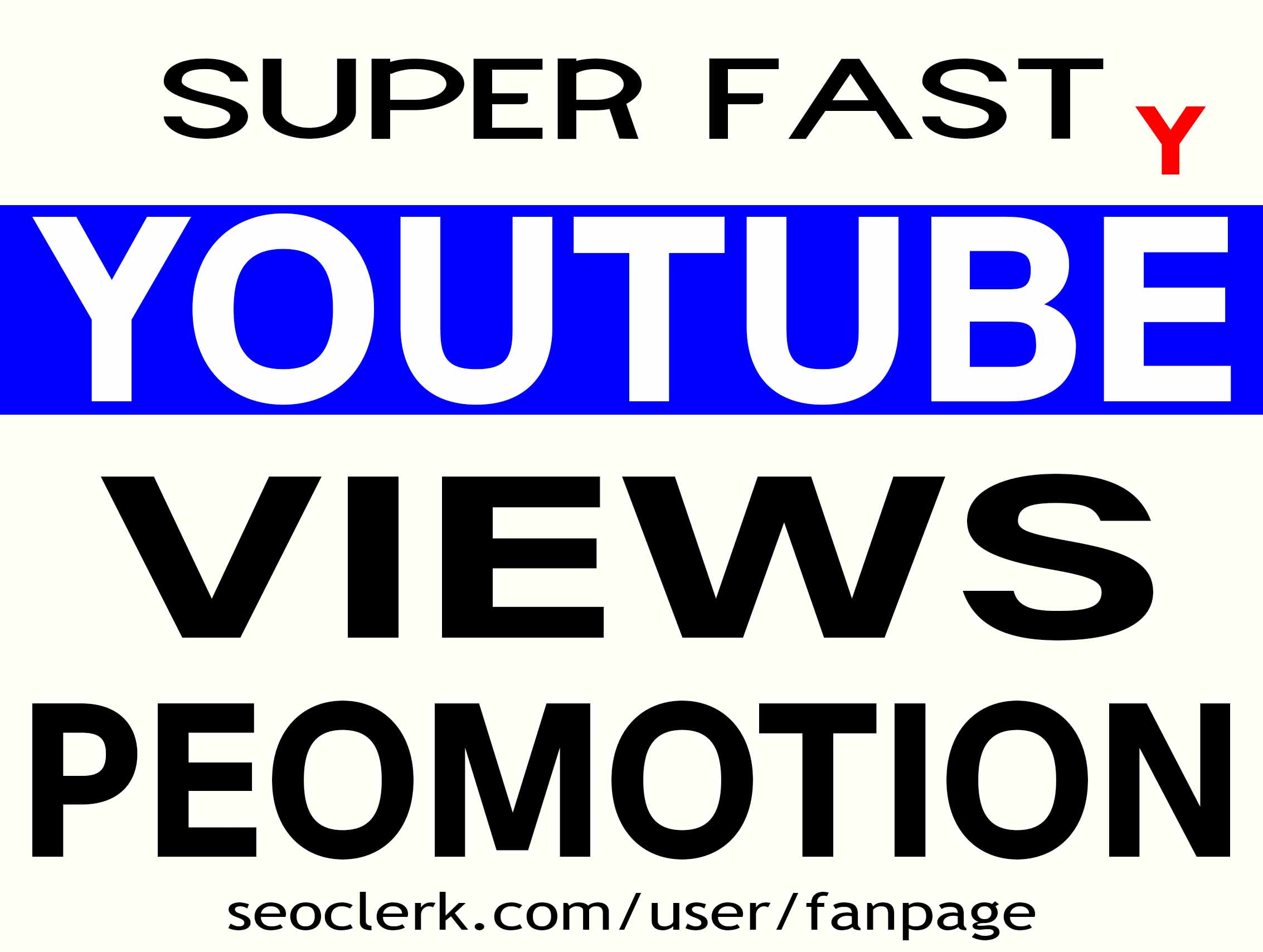 THE BEST YOUTUBE VIDEO PROMOTION NON DROP INSTANT START AND HIGH QUALITY