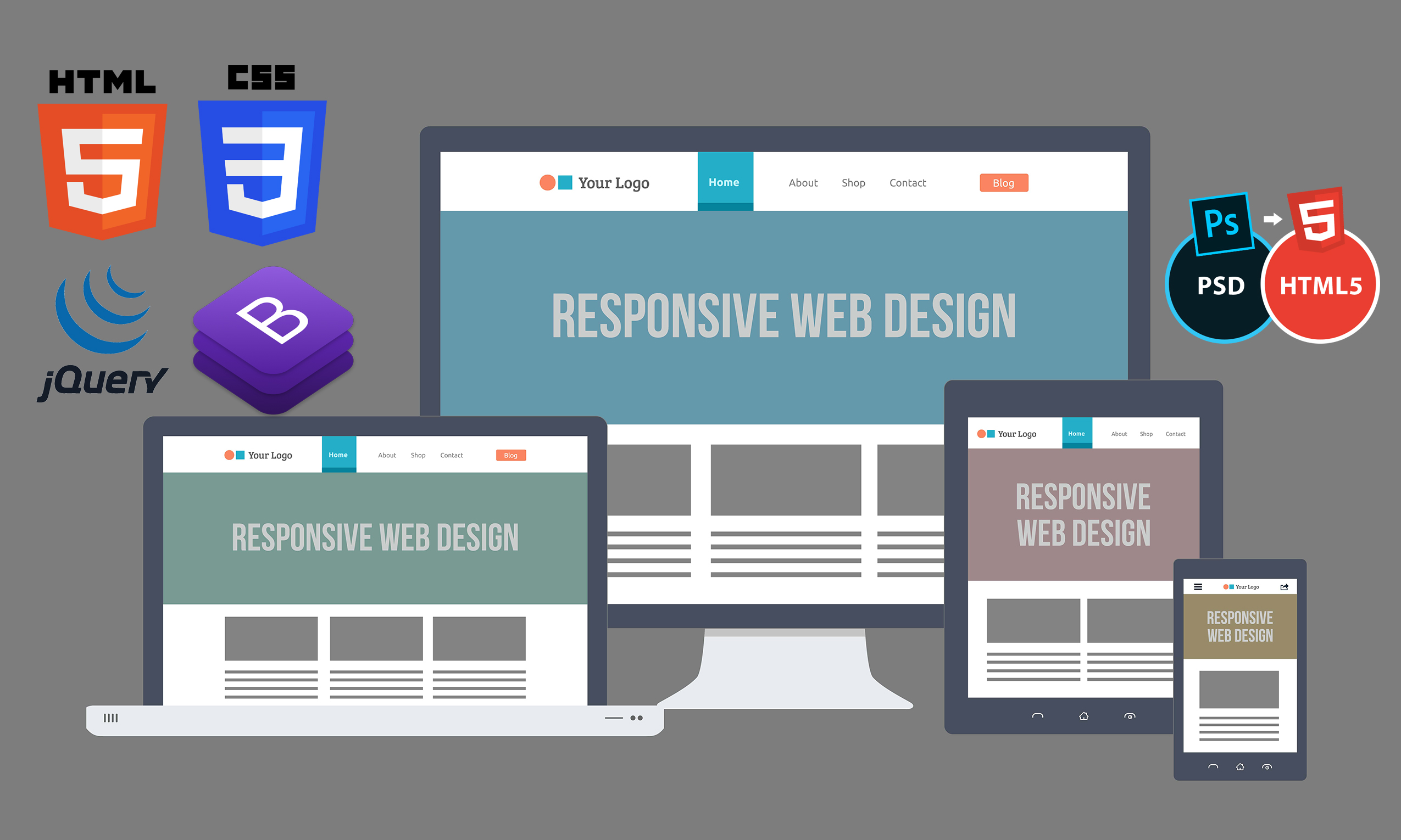 i will do responsive web design