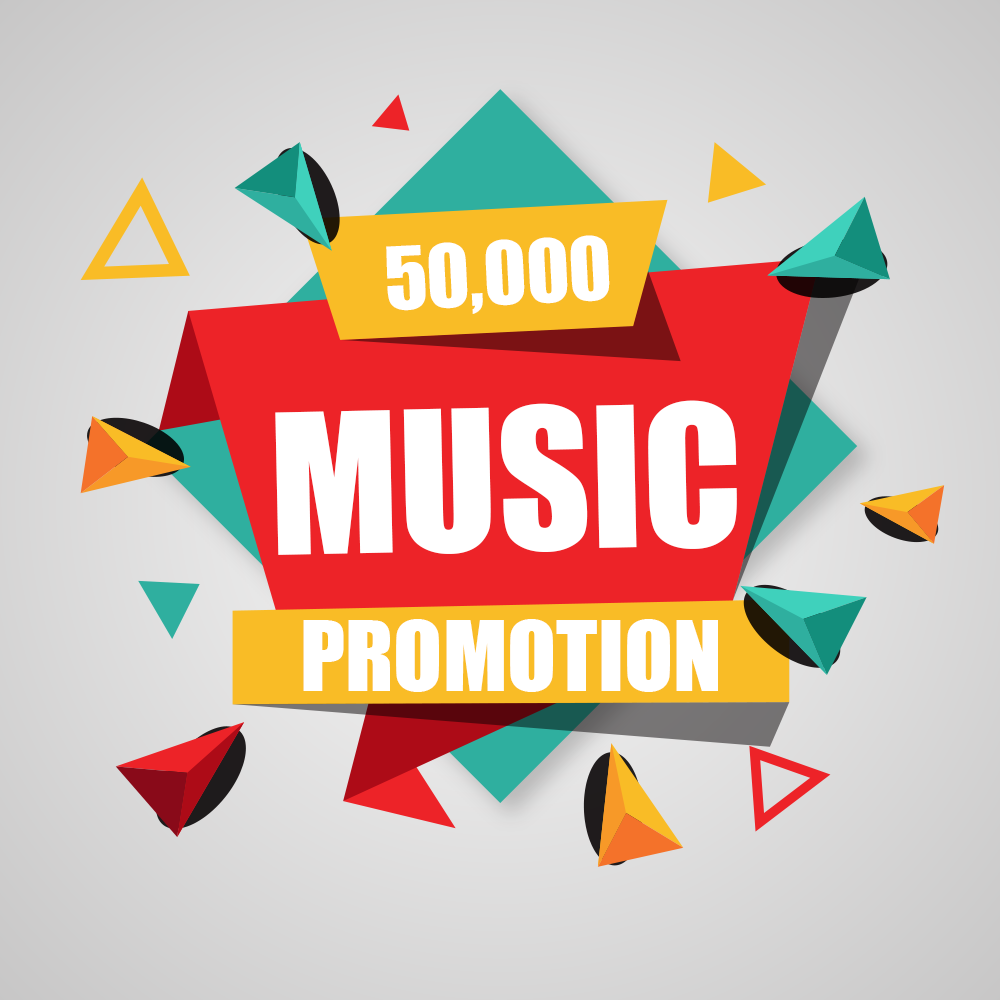 Fifty Thousand Real Music Song Promotion