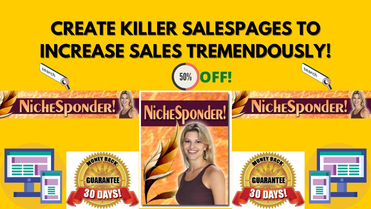 Niche Sponder - Create Killer Sales Pages & Increase Sales