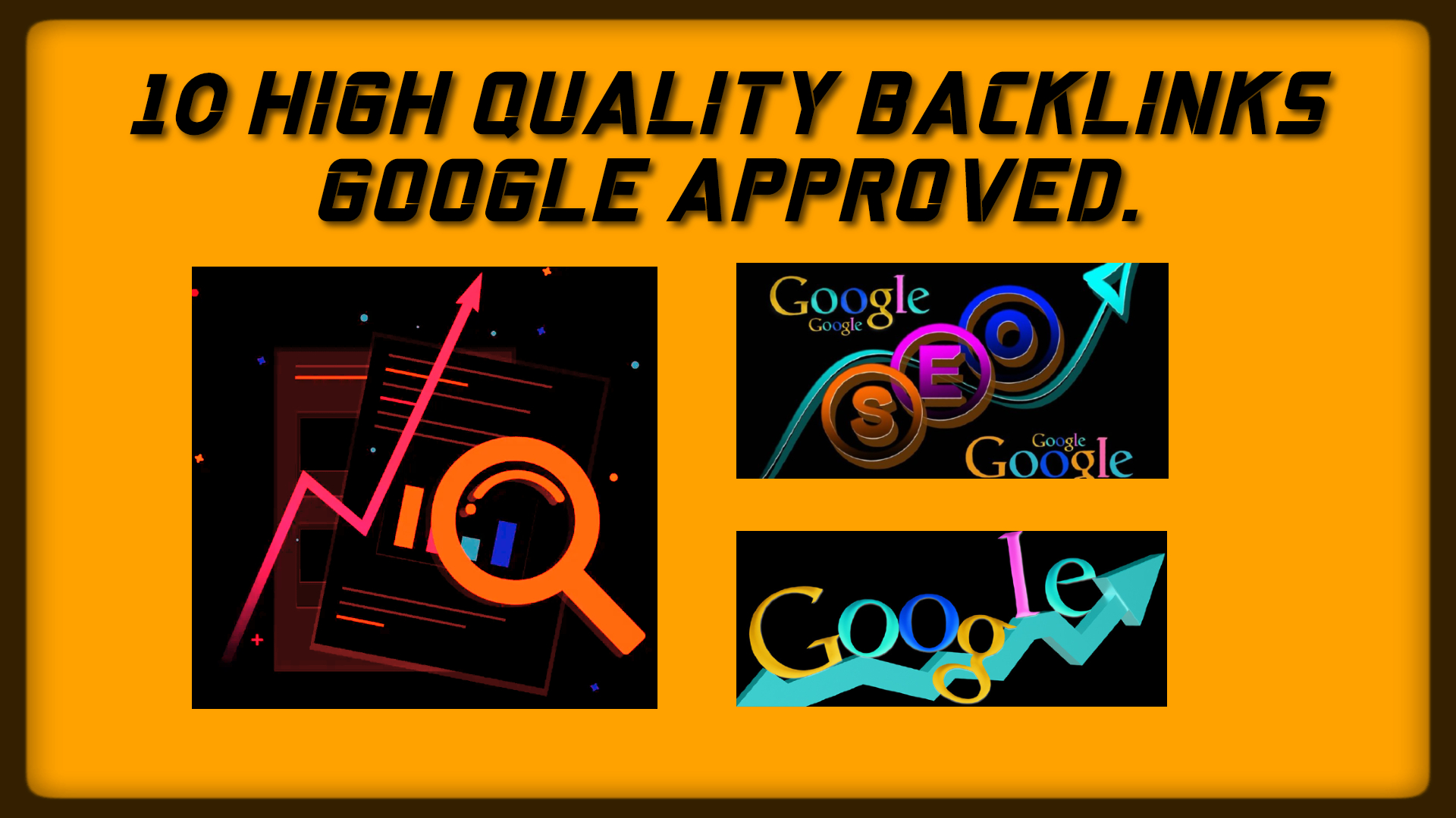 Create 10 High Quality Backlinks Google Approved