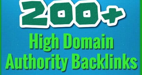 200 Backlinks On High Domain Authority Websites