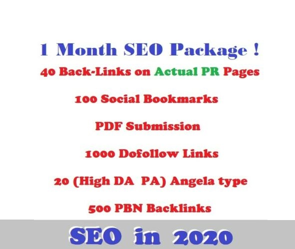 1 Month SEO Actual Pr links, article submission, dofollow, social bookmarks. EDU