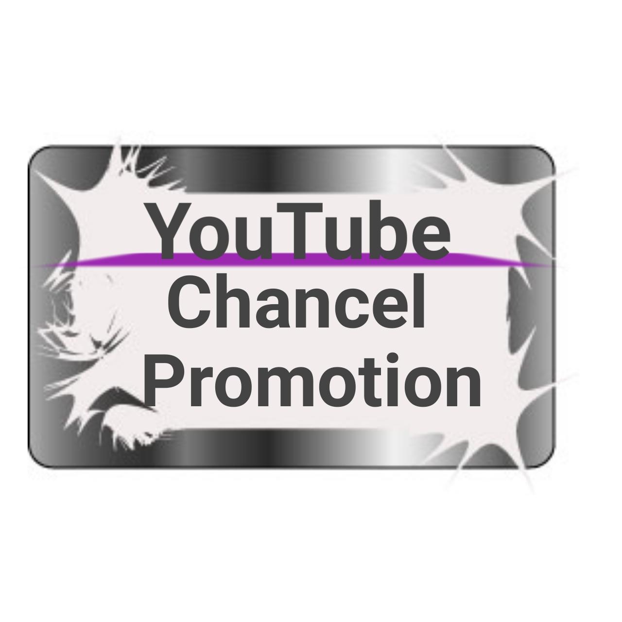 YouTube Chancel promotion and Marketing
