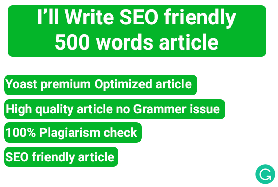 SEO Optimized 500 Words Article Grammarly and yoast optimized article with health technology niche
