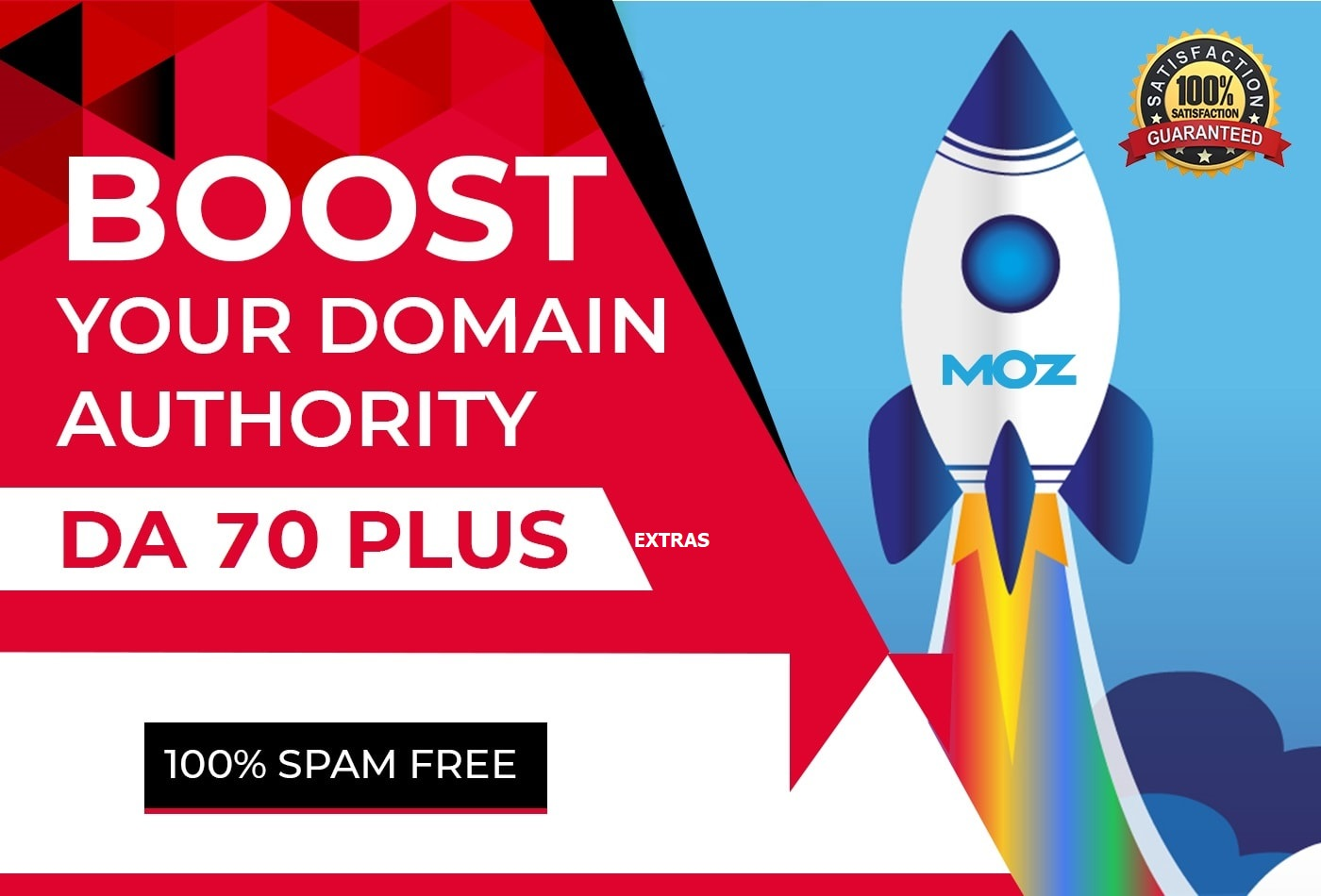 Boost Your Website MOZ Domain Authority DA 50 Plus