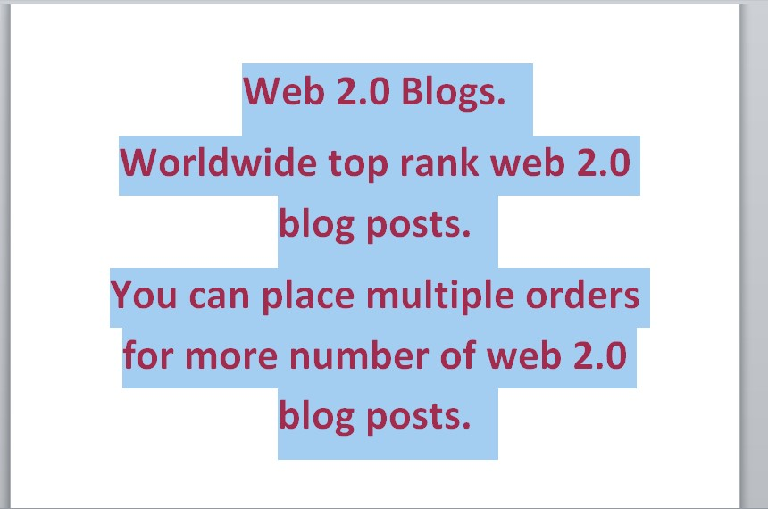 10 web 2.0 blog with unique article with your given links and keywords. White Hat SEO. Increase SERP.
