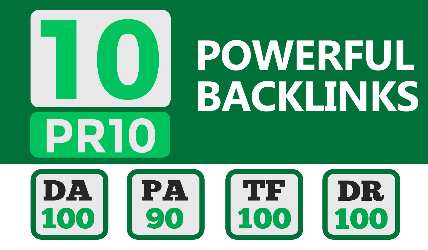 Manually do 10+ PR10 Powerful High Quality SEO BackIinks on DA100 websites