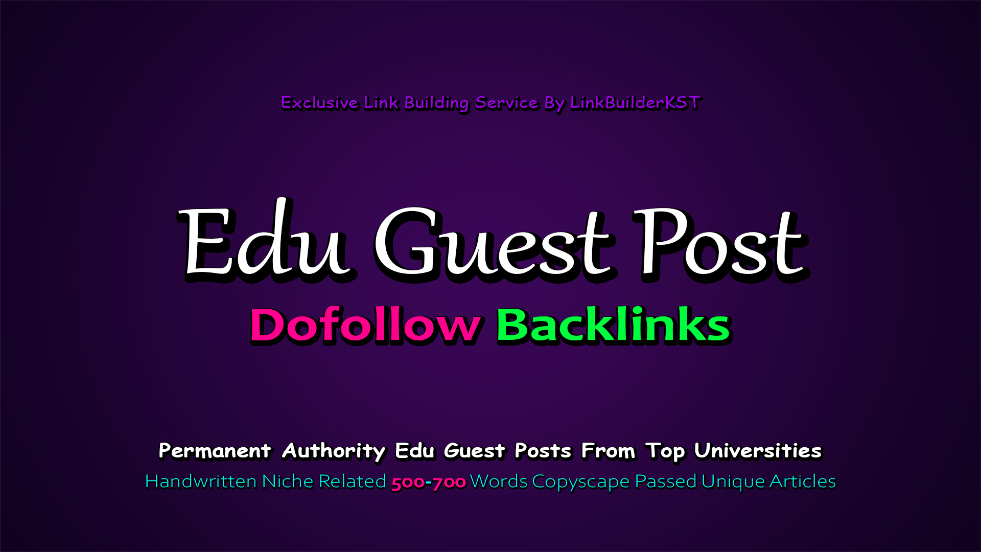 Write And Publish 3X EDU Guest Posts On Top 3 Universities
