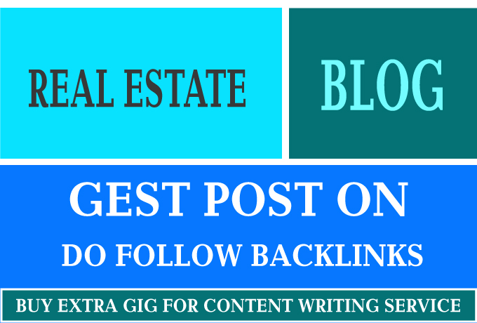 I will guest post on high quality real estate blog