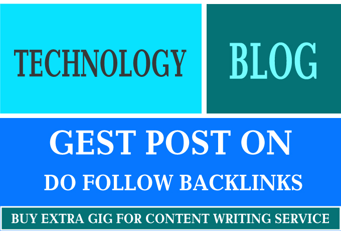 I will guest post on technology blog