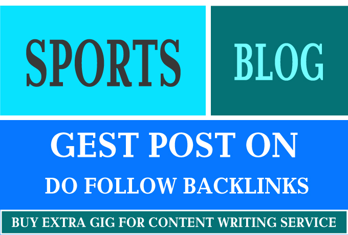 I will guest post on high quality sports blog