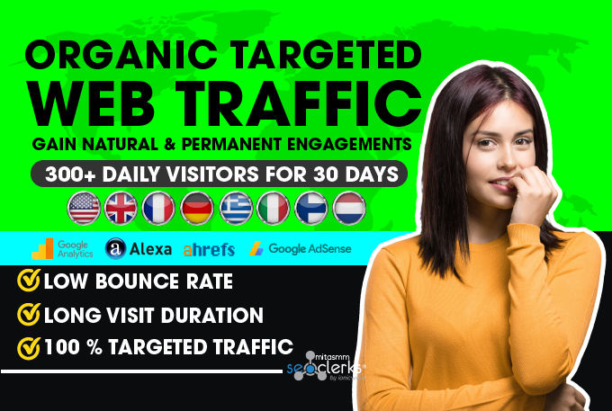 Set Up And Run low bounce rate Geo Targeted Web Traffic Campaign for 1 months