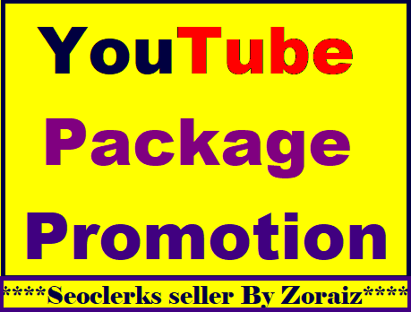 YouTube package promotion all in one super fast delivery