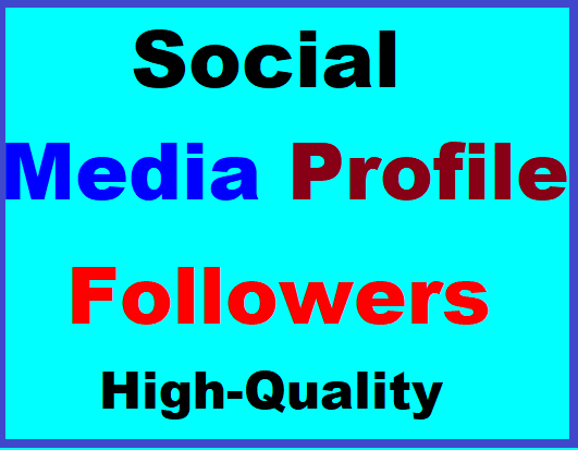 Social Media Profile Follow High Quality Instant Start