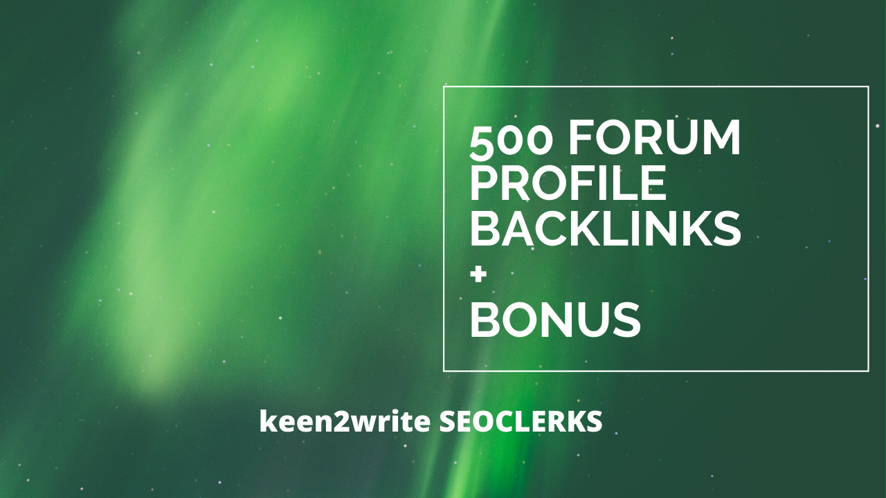 Building You 500 Profile Backlinks within 24/hr with Bonus on Completion