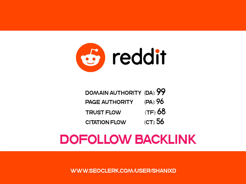 Guest Post with DOFOLLOW Backlinks on REDDIT DA 99, P...