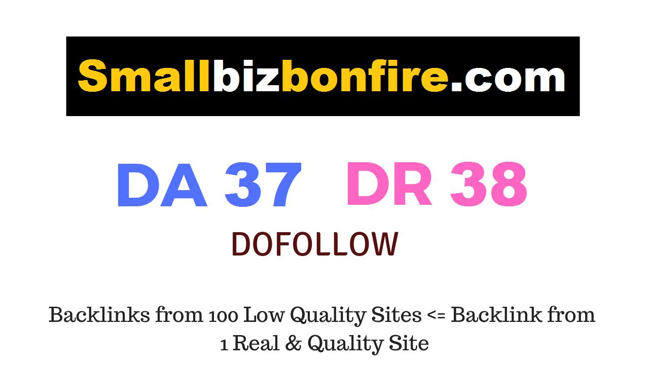 Guest Post on Smallbizbonfire. com DA37 DR38