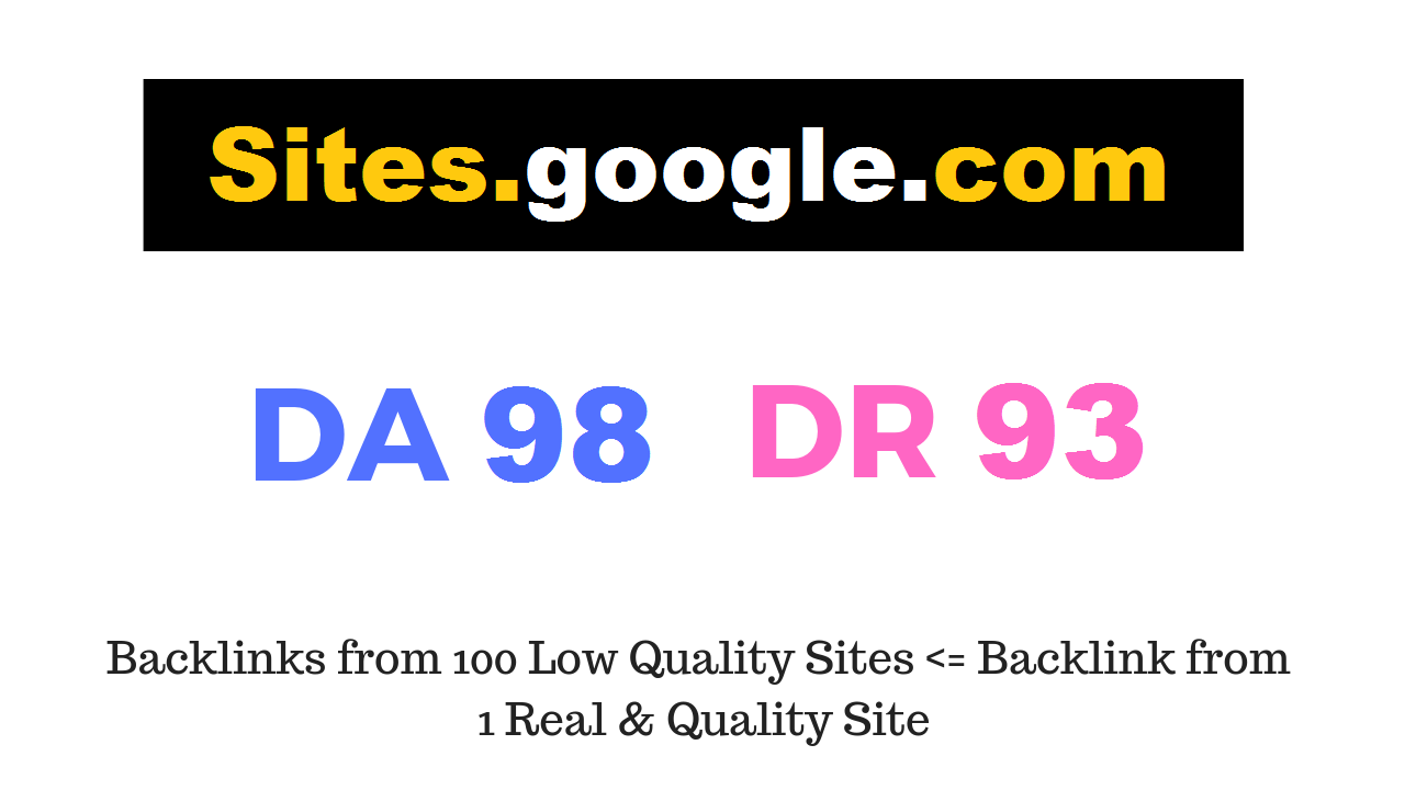 Guest Post on Sites. google. com DA98 DR93