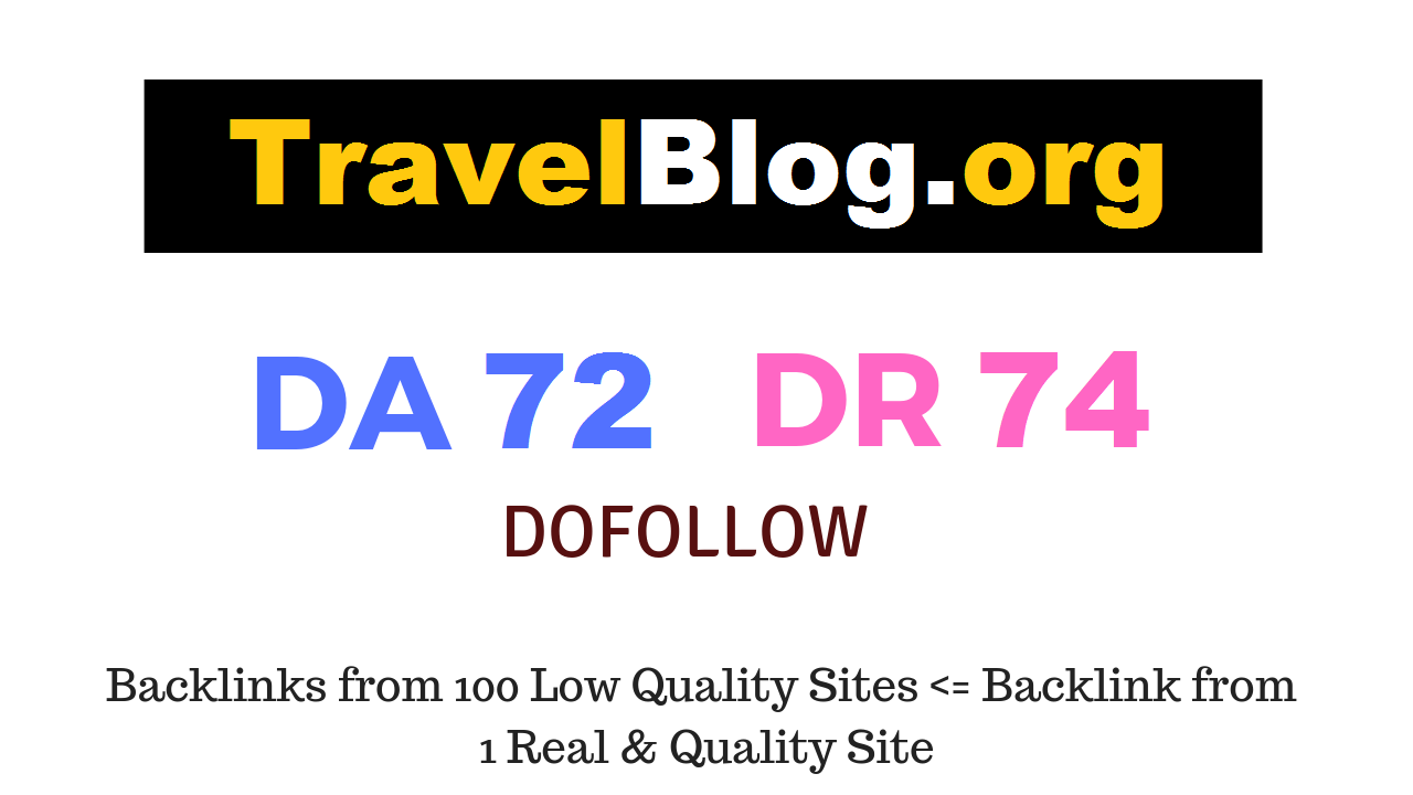 Publish A Guest Post On High DA76 TF63 Travel Website