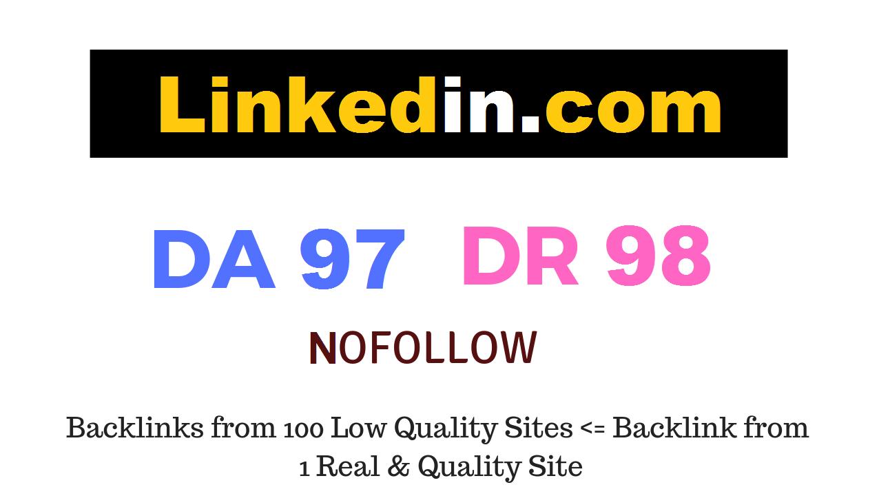 Publish Guest Post on Linkedin. com DA97 DR98