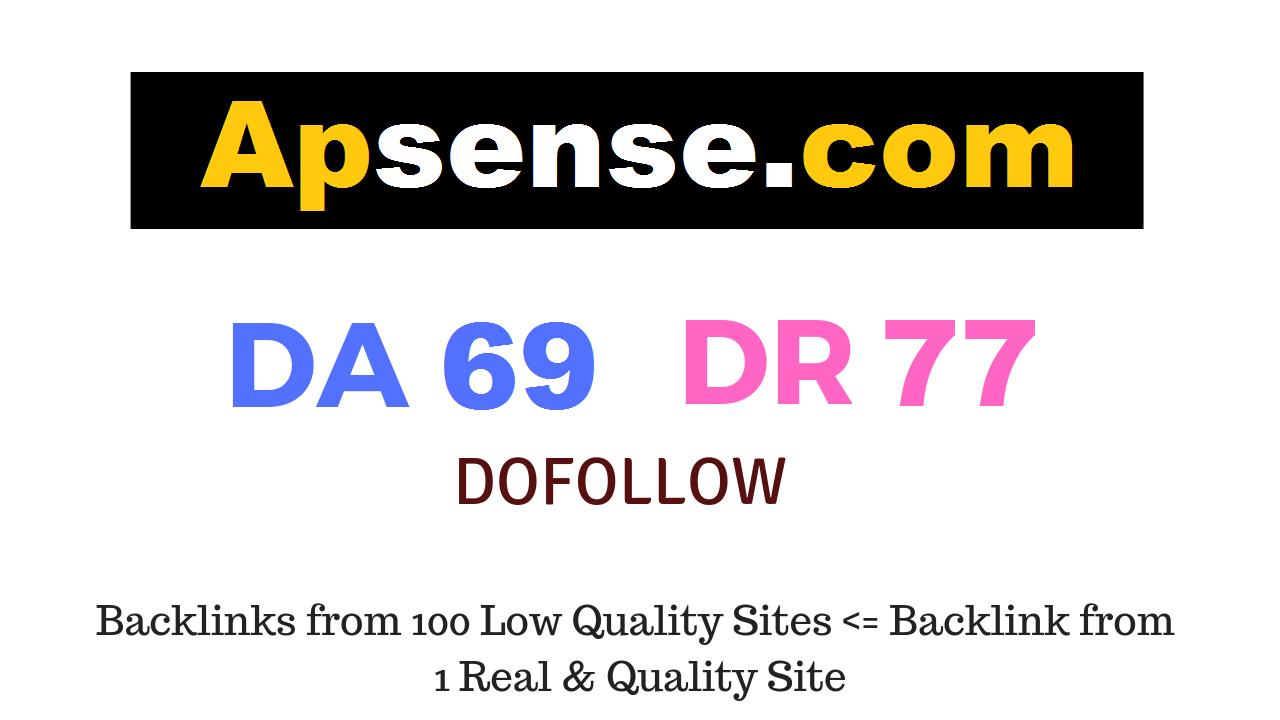 Publish Guest Post on Apsense. com DA69 DR77