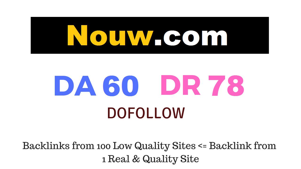 Publish Guest Post on Nouw. com DA60 DR78