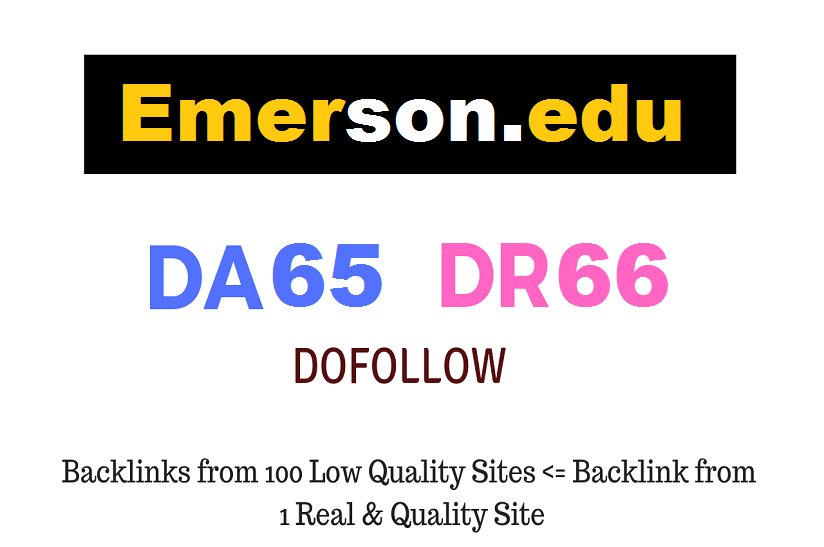 Guest Post on Emerson. edu DA65 DR66