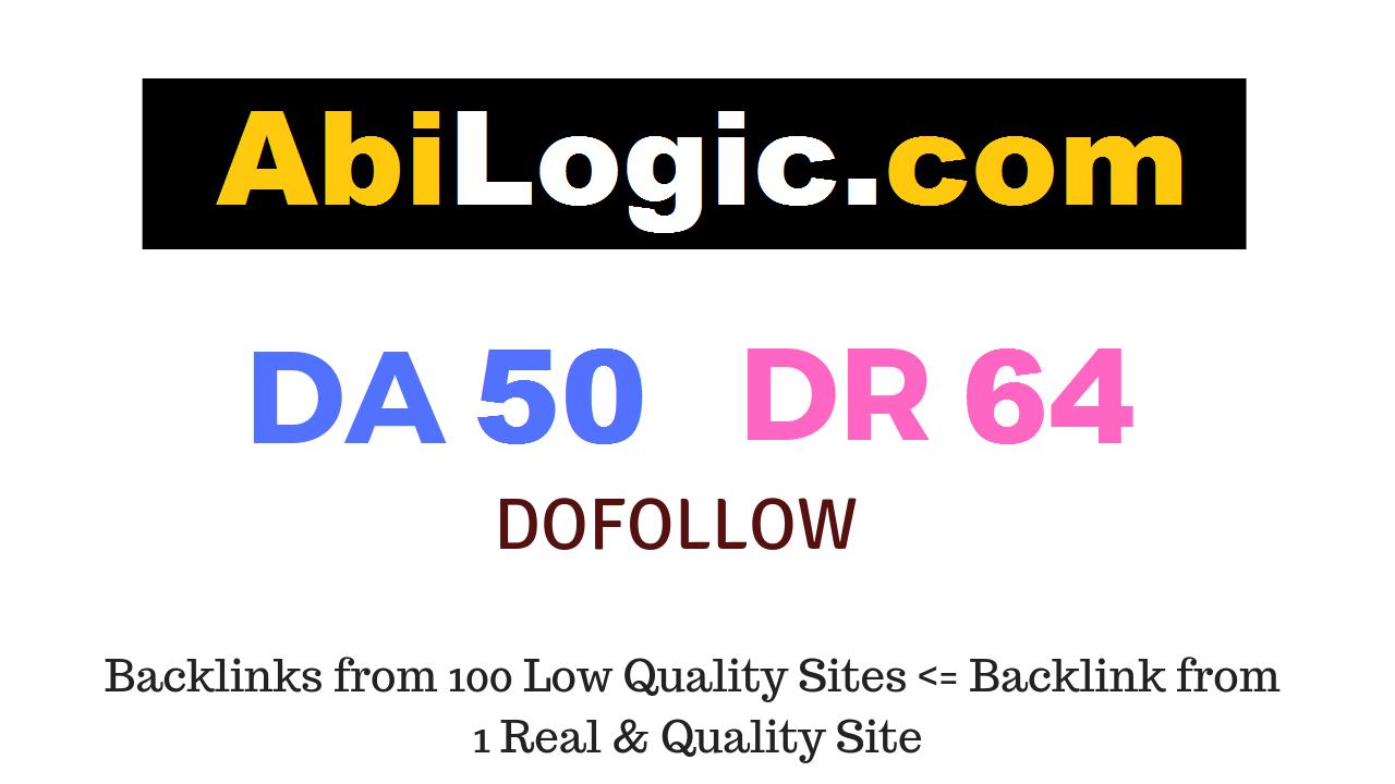 Publish Guest Post on Abilogic.com DA50 DR64