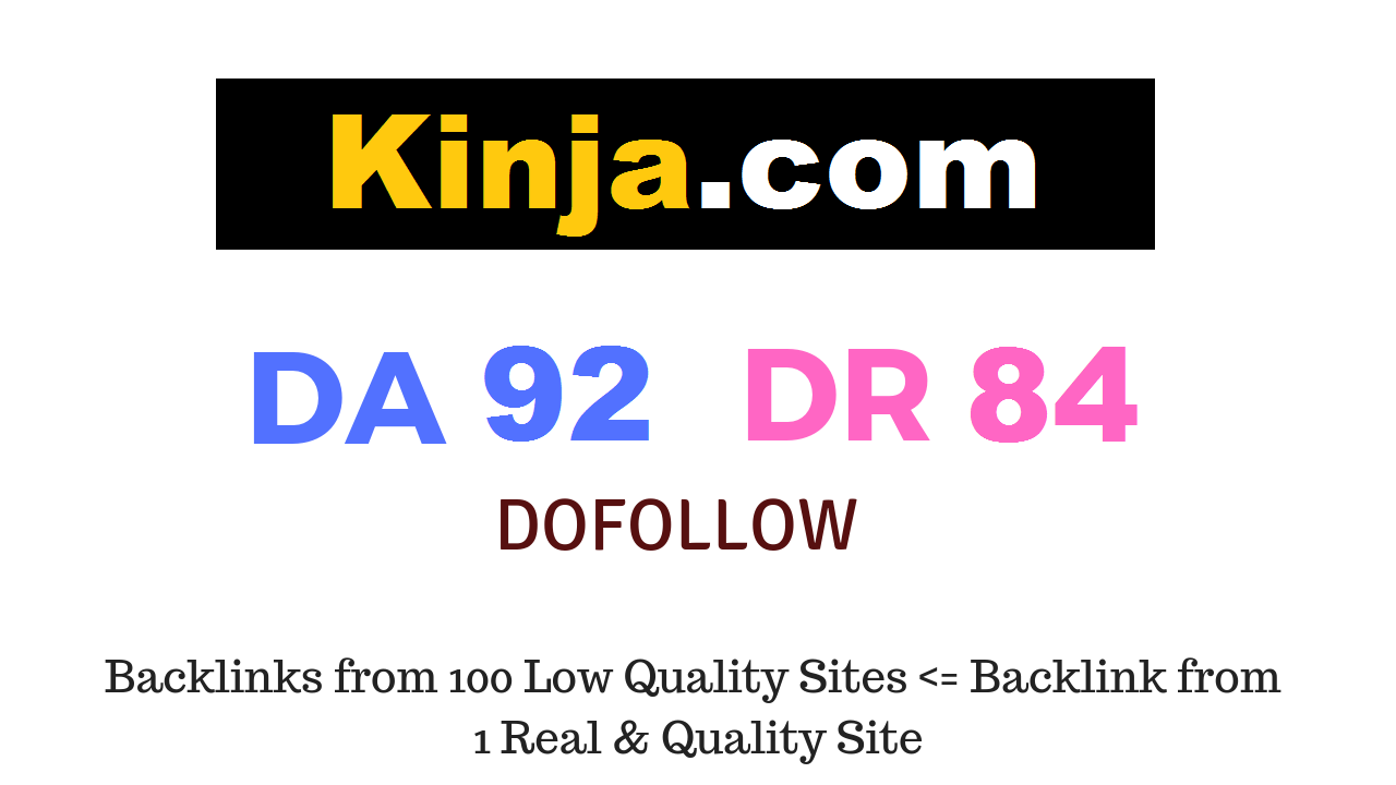 Publish Guest Post on Kinja. com DA92 DR84