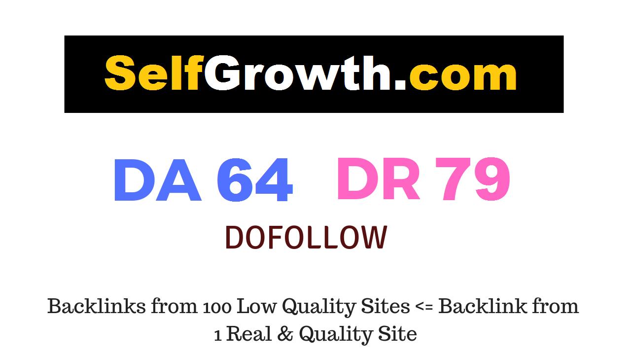 Publish Guest Post On Selfgrowth. com DA 64 DR 79