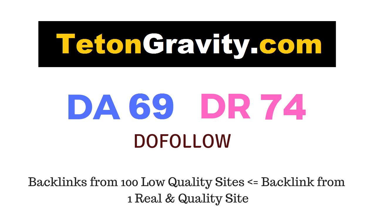 Publish Guest Post on tetongravity. com DA69 DR74