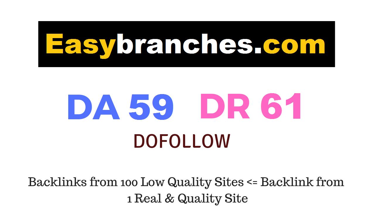 Guest Post on Easybranches. com DA59 DR61