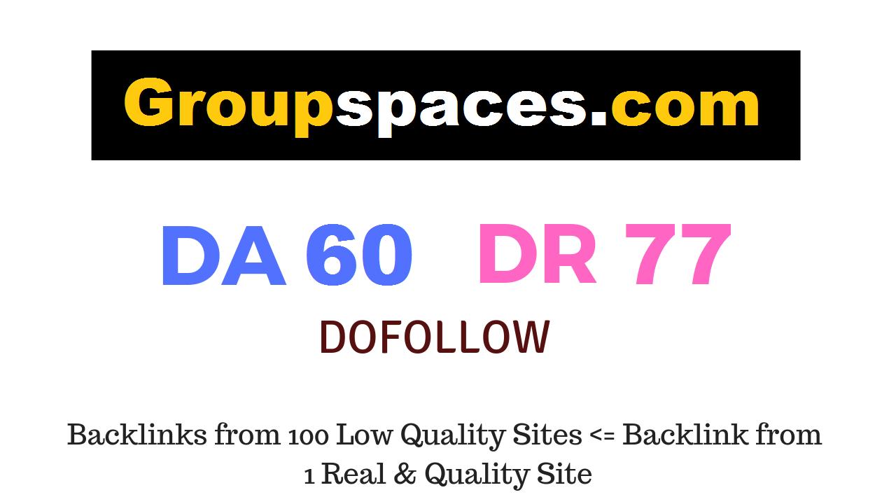 Guest Post on Groupspaces. com DA60 DR77