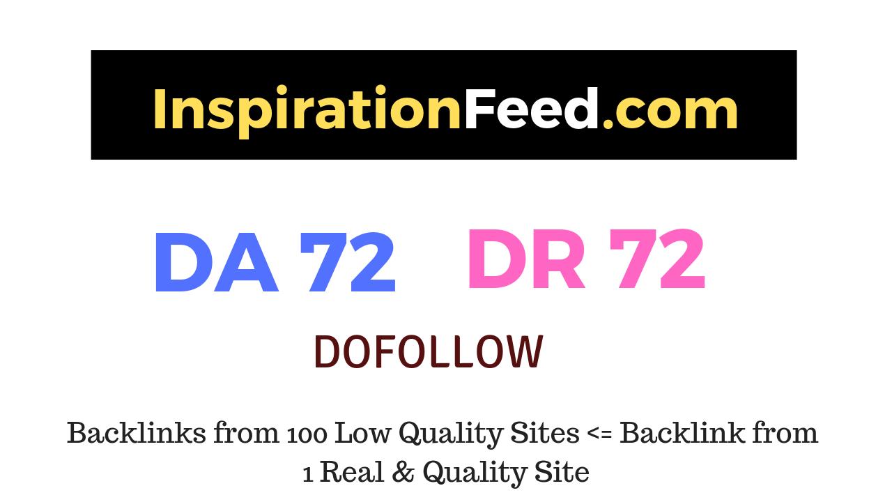 Publish a guest post on InspirationFeed. com DA72 DR72