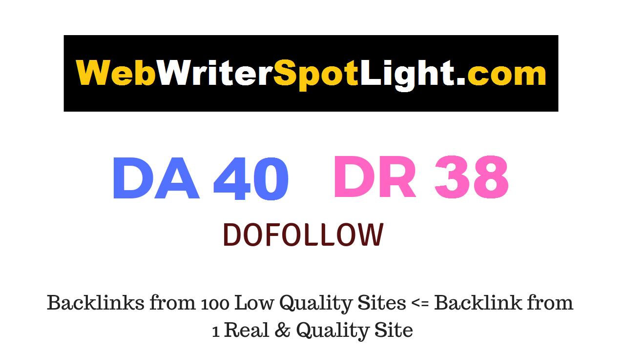 Guest Post on Webwriterspotlight. com DA40 DR38