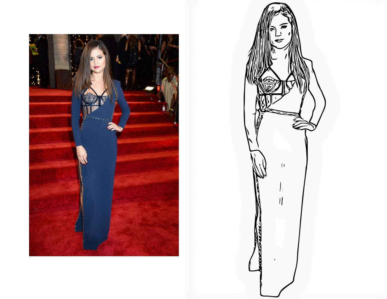 draw 3 your photo to blackwhite vector line art