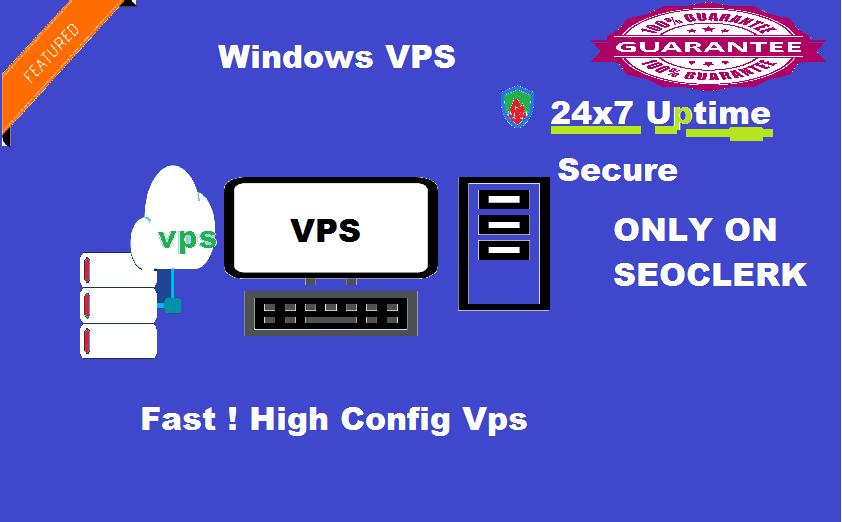 Windows VPS RDP 4 GB RAM 80 GB SSD 2 CPU
