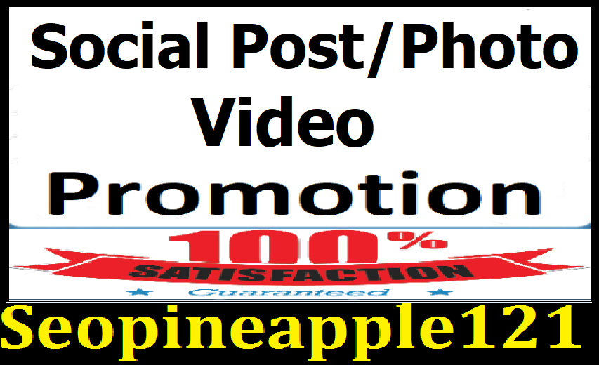 Instant Social Post Or Video Promotion Marketing Exclusive Service