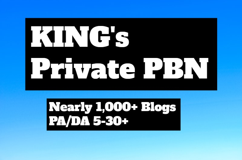 1,000+ Private Blog Networks - Drip Feed To 30 Days - DA 5 To 30 - KING's SEO