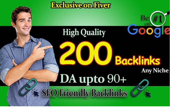 Get Top Ranking in Google with 200 High Quality SEO Backlinks