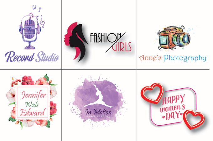Design professional watercolor and feminine logo