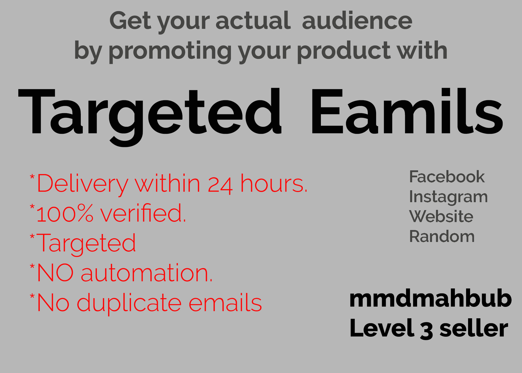 Get 20,000 Targeted Email leads