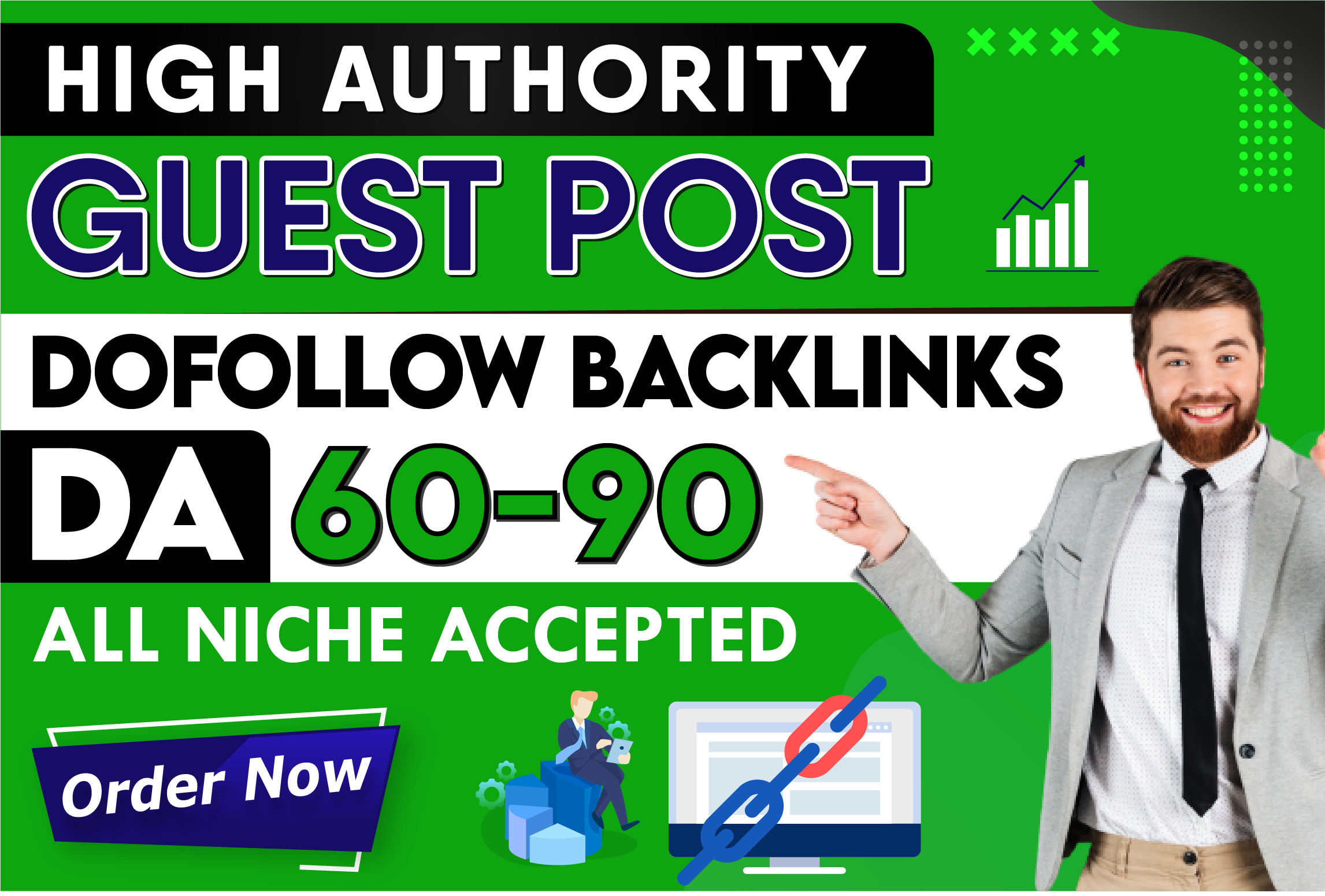 Create 25 high da guest post on authority blogs Plus EDU guest post da 95 to 40