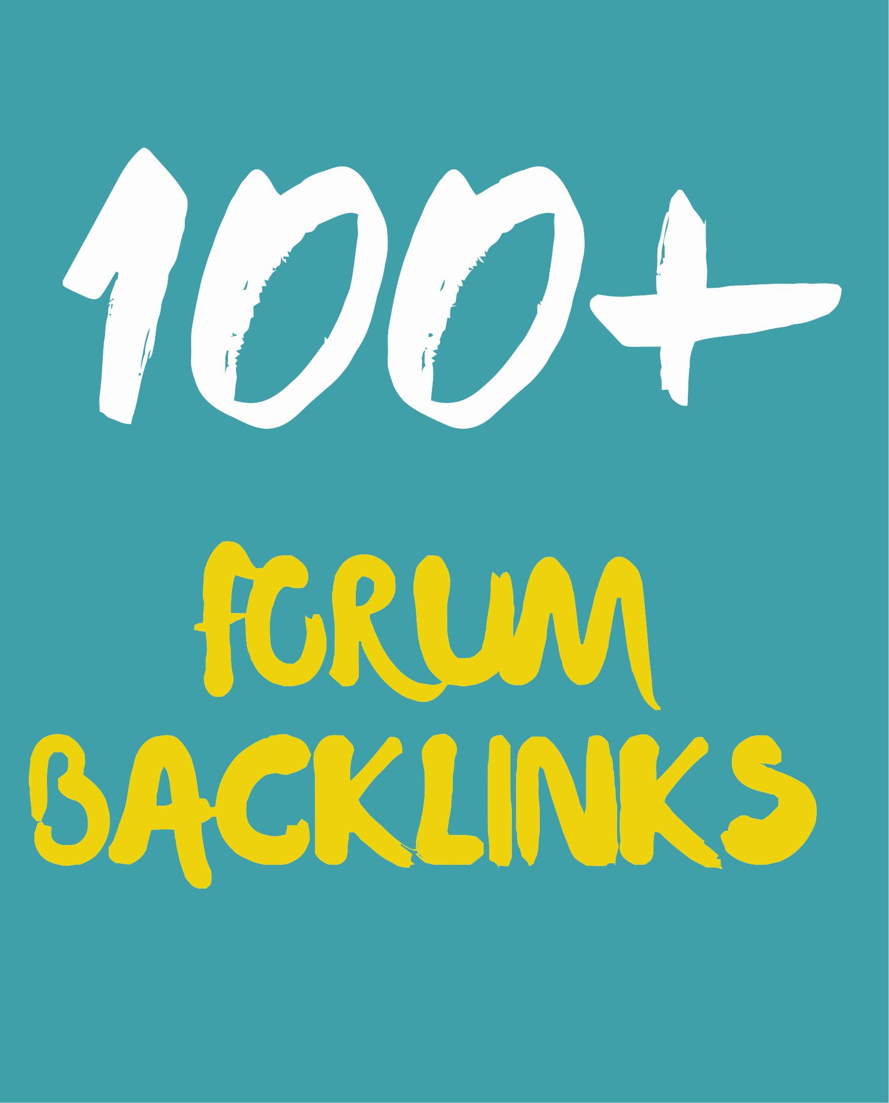 100 Forum profile backlinks from Unique domain