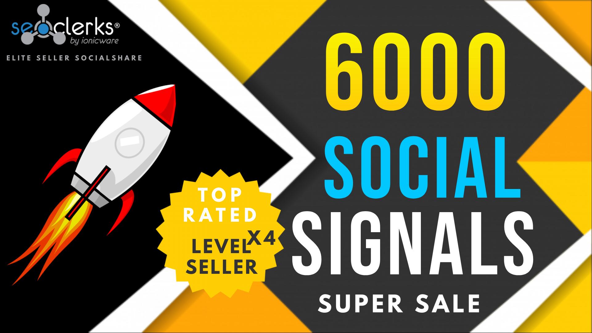 6000 PR10 Social Network Signals / Bookmarks / Backlinks / Help To Website Traffic Google Rank