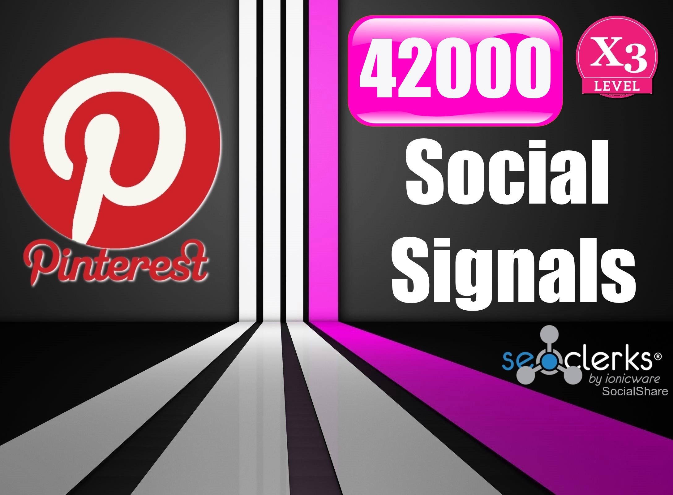42,000 PR9 Pinterest SEO Social Signals