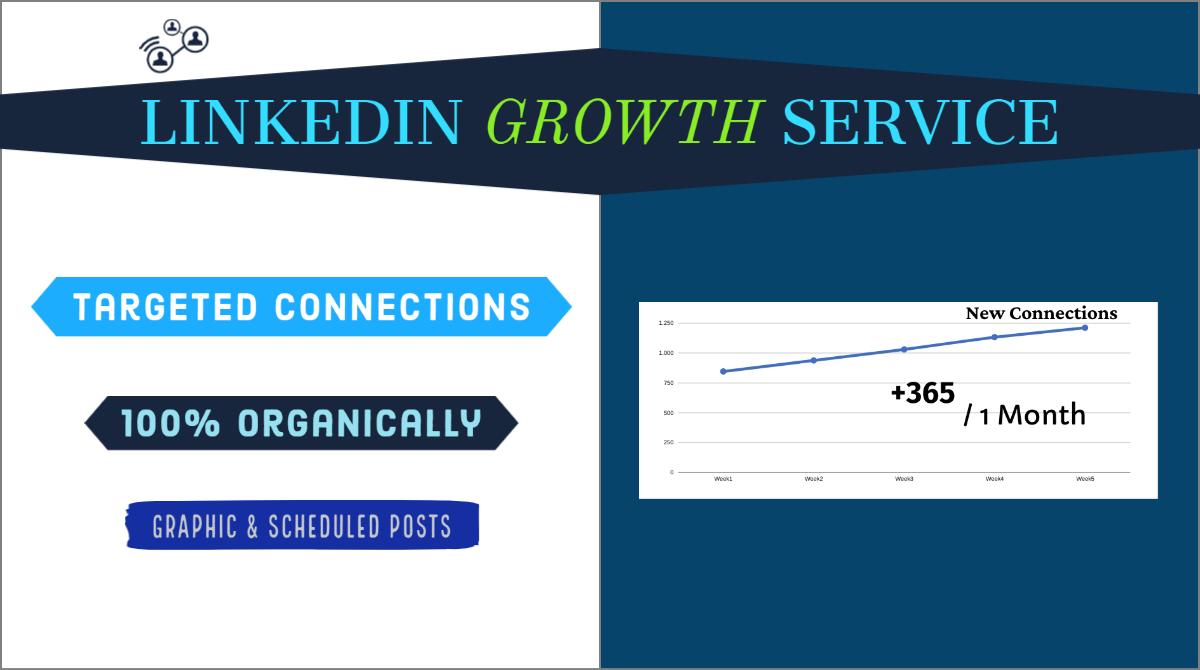 Linkedin Growth Service - Organic Promotion Marketing