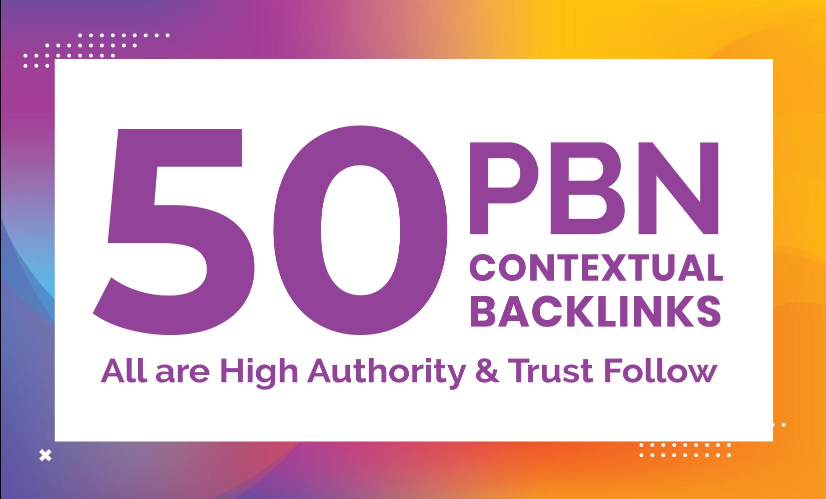 I will do premium 50 pbn post backlinks