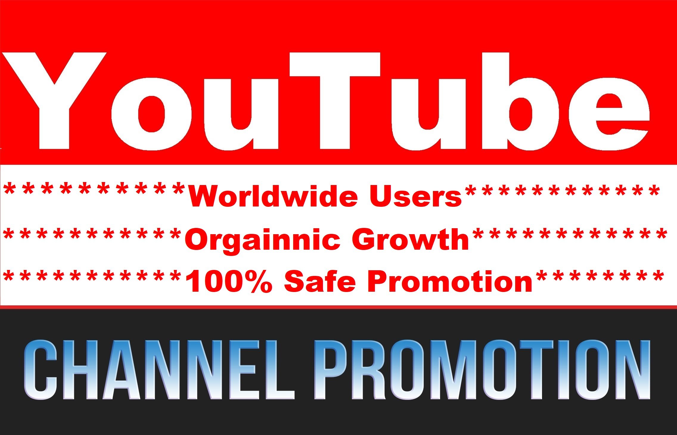 YouTube Video and Chanel Real Audience Promotion